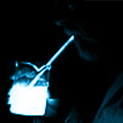 Sipping-a-Bioluminescent-Beverage
